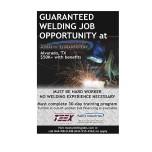 Welding Job Opportunity in Alvarado, TX